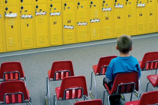Child in chair school lockers2 Education Reform: Back to School for the Billionaires